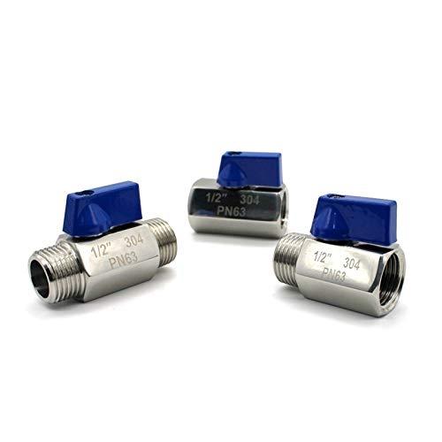 Electroválvula mecánica Válvula de bola 1/8' 1/4' 3/8' 1/2' 3/4' 1 pulgada BSP NPT F tubo / M M / M F / F 316 SS304 Manual de cocina de metal empuñadura del interruptor neumático Mini Control de válvu