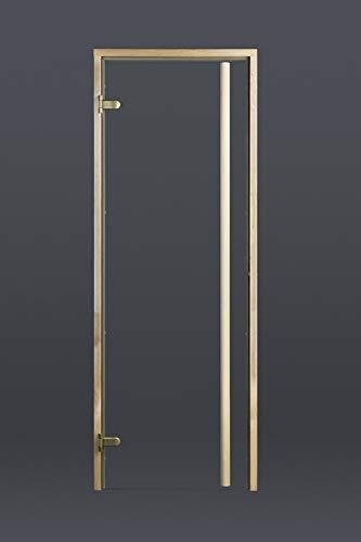 Fintec Saunatür Klar-Glas (695 x 1890 mm) Griffstange