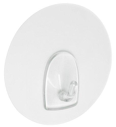 Háčiky Metafranc Ø 68 mm - priehľadné - 1 kus - na pripevnenie na všetky hladké povrchy - bez lepenia alebo vŕtania / nástenné háčiky do kuchyne a kúpeľne / ozdobné háčiky / háčiky na okná / 214717