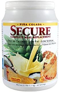 Andrew Lessman Secure Soy Complete Meal Replacement - Piña Colada, 30 Servings