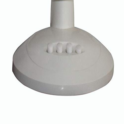 ZEELIY Elektrischer 3-stufiger oszillierender Tischventilator, 9-12 Zoll, weiß