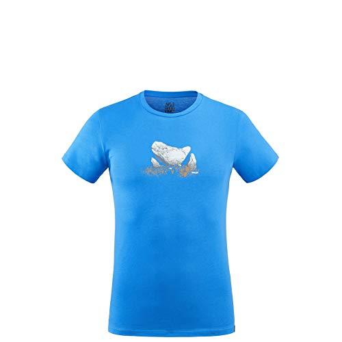 MILLET - Tee Shirt Boulder Dream TS SS M Electric Blue Homme - Homme - Taille s - Bleu