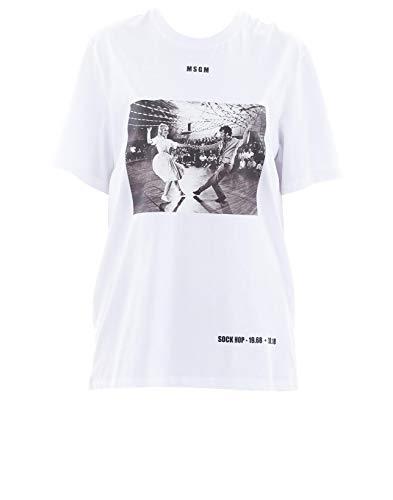 MSGM Luxury Fashion Womens T-Shirt Summer White