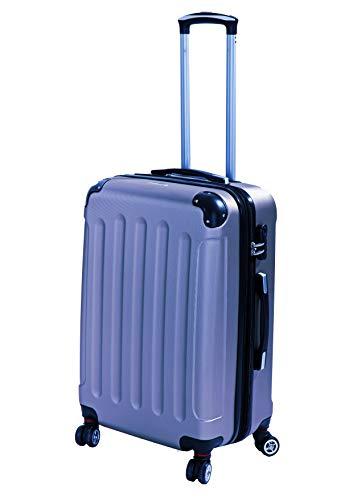 Glüückskind 3tlg. Kofferset Reisekoffer Trolley Koffer Set aus ABS mit TSA Schloss Einzeln oder im Set (Eisblau, L Reisekoffer)
