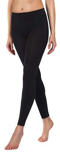 Merry Style Damen Thermo Leggings mit Innenfleece 24550 Extra Warm (Schwarz, 40/42)