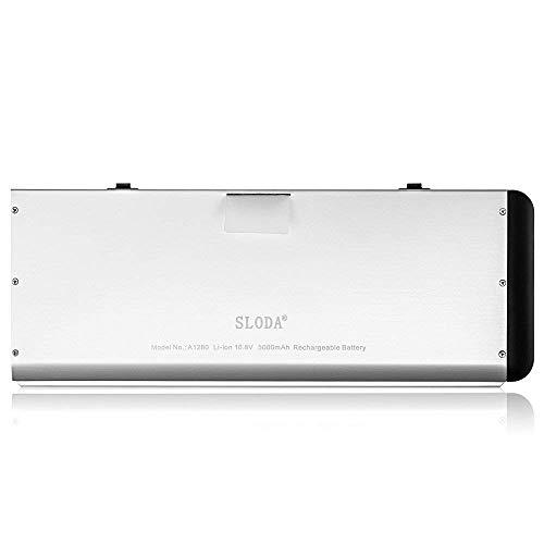 """SLODA Batería de Repuesto de Portátil para Macbook 13"""" A1280 (A1278 Late 2008 SOLAMENTE) Macbook 13"""" Late 2008 5,1 Batería de Repuesto [Li-Polymer 10.8V 5400mAh]"""