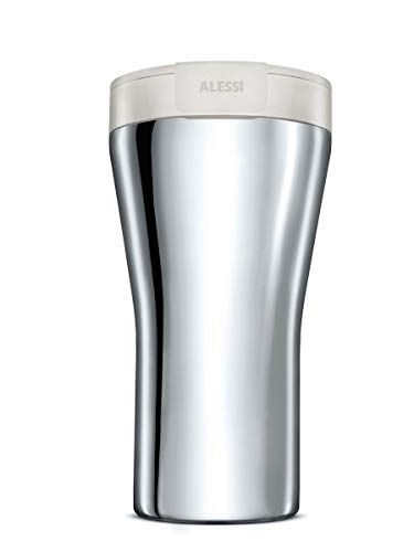 Alessi GIA24 W Travel Mug, Stainless Steel, weiß
