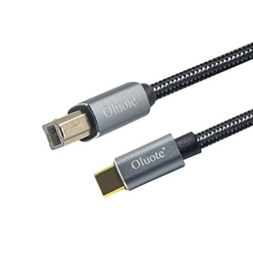 Oluote Cable USB C a Midi,Cable de Impresora Tipo C a Tipo...