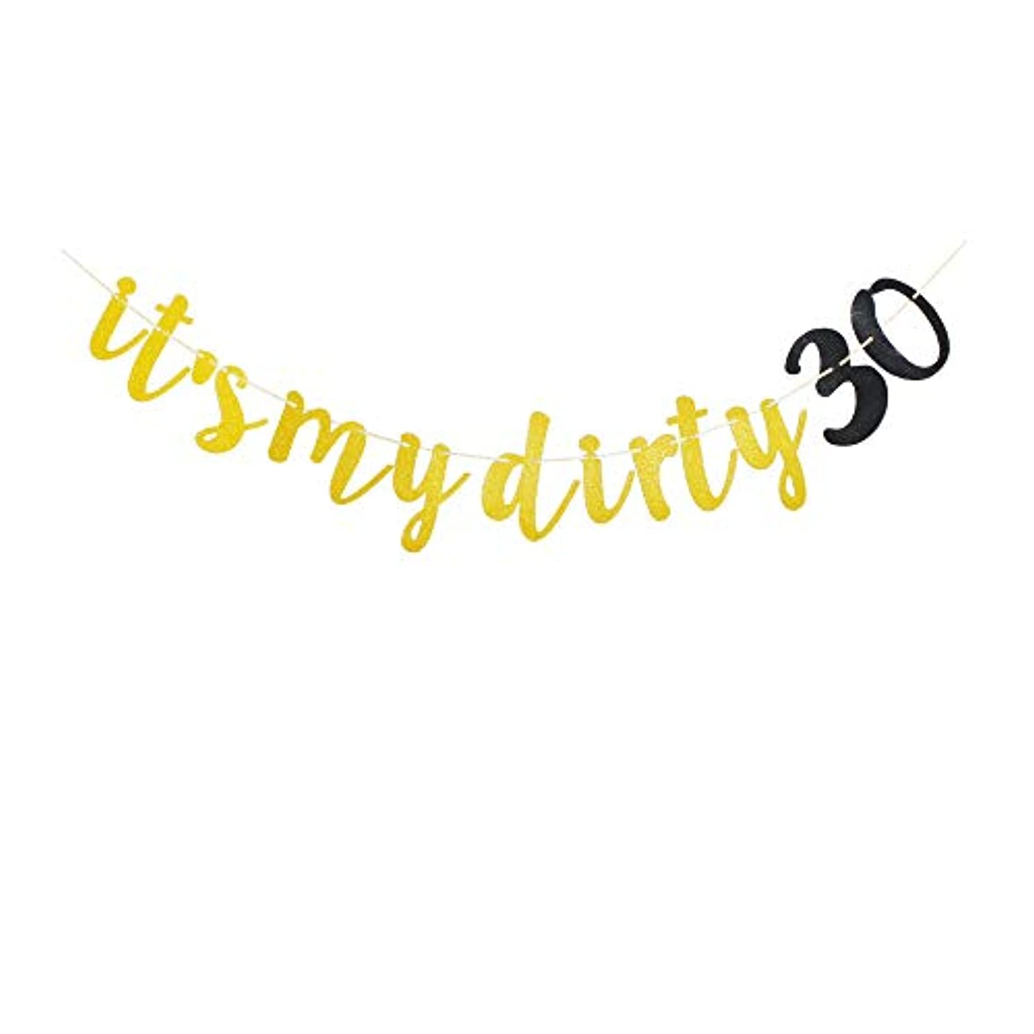 It's My Dirty 30 Banner for 30th Birthday Party Sign Decors, 30 Years Old Birthday Party Supplies