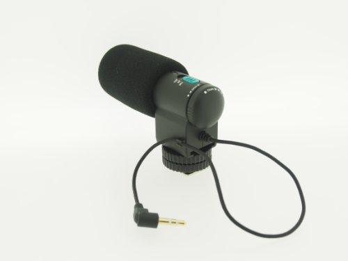 Micrófono estéro Externo Marca vhbw para Canon EOS 5D Mark II, 5D Mark III, 7D, 50D, 550D, 500D, 60D,600D.