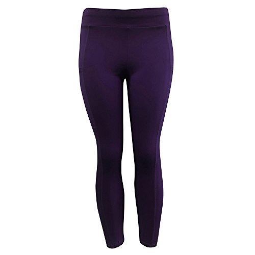 VECDY Damen Hosen Yogahosen Sporthosen Solide Workout Leggings Fitness Sport Gym Jogginghose Tanzhosen Jogginghose