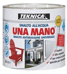 Smalto all'acqua LUCIDO UNA MANO smalto antiruggine universale- 500 ml (GIALLO)