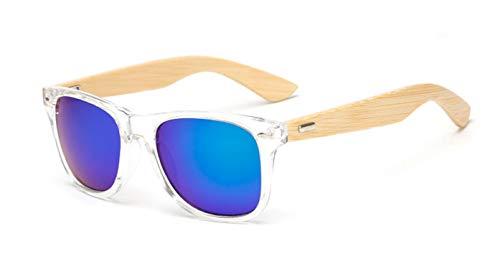 Daawqee Prämie Sonnenbrillen,Brillen,17 Color Wood Sunglasses Men Women Square Bamboo Women For Women Men Mirror Sun Glasses Retro De Sol Masculino Handmade KP1501 C15