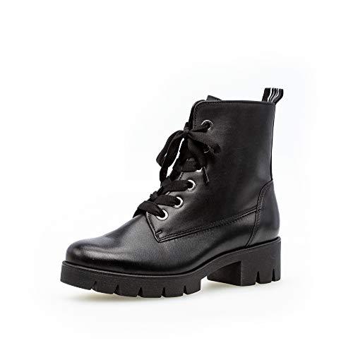 Gabor Damen Stiefeletten, Frauen Schnürstiefelette,Best Fitting,Reißverschluss,Übergrößen,Optifit- Wechselfußbett, Boots,schwarz,38.5 EU / 5.5 UK