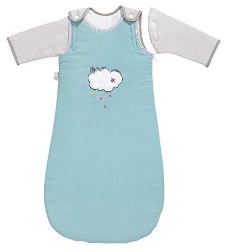 P 'tit Basile - Saco de dormir de invierno para bebé niño, 6-24 meses - 90 cm - con mangas largas extraibles removibles desmontables, algodón orgánico, TOG 2,5 Dans les nuages