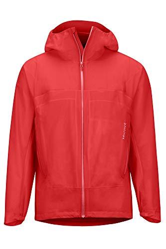 Marmot Herren Hardshell Regenjacke, Wasserdicht, Winddicht & Atmungsaktiv Bantamweight Jacket, Victory Red, L, 31590