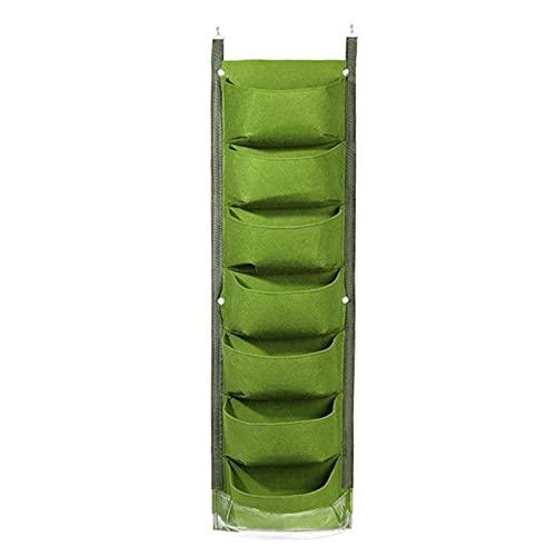 Househome - Bolsas de jardinera verticales – Bolsa de plantación de fieltro – Bolsas para plantas – Bolsa de jardinera colgante con – Accesorios de soporte de maceta para la casa interior/exterior