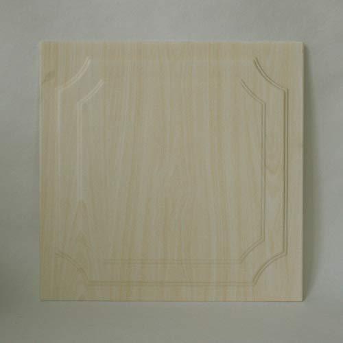 DECOSA Deckenplatten WIESBADEN in Holz Optik - 8 Platten = 2 m2 - Deckenpaneele in Birke Dekor - Decken Paneele aus Styropor - 50 x 50 cm - B-Ware
