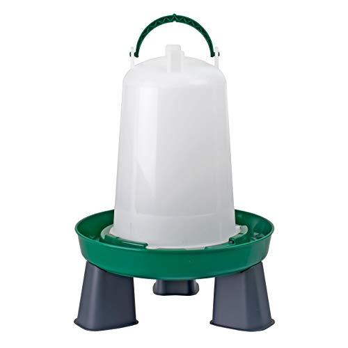 My Favorite Chicken Poultry Bayonet Drinker Waterer 6L / 1.5 Gallon, with Legs, Green