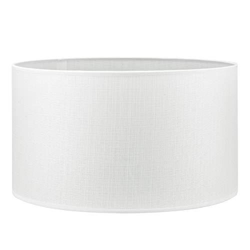 Pantalla redonda | Canvas | Pantalla de lámpara | Pantalla de forma recta | diámetro de 40 cm altura de 22 cm |