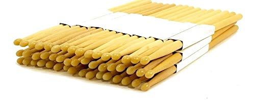 24 PAIRS 5B NYLON TIP NATURAL MAPLE WOOD DRUMSTICKS 48 DRUM STICKS 5BN