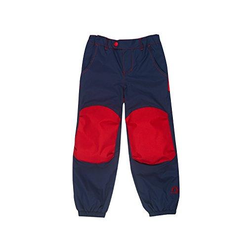 Finkid Huima Plus navy red verstärkte Kinder Outdoor Regenhose
