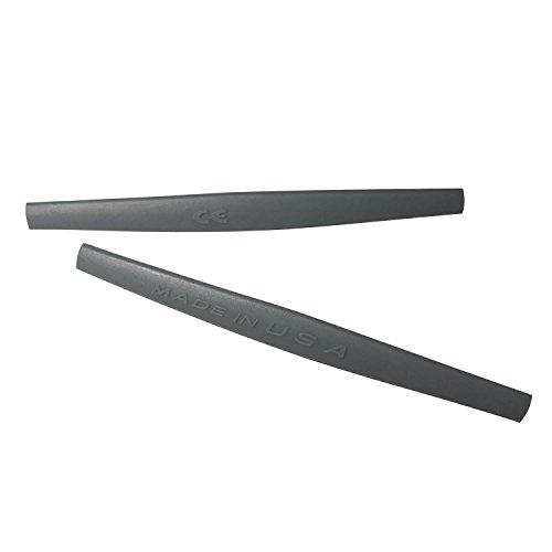HKUCO Dark Grey Replacement Silicone Leg Set For Oakley Square Wire 2.0 Sunglasses Earsocks Rubber Kit