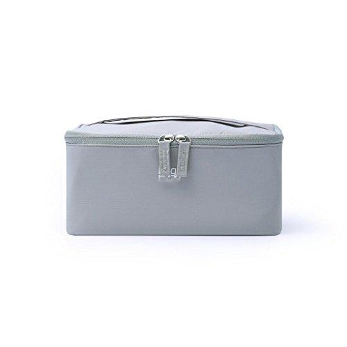 Benfa Sac cosmétique Corée Portable Grande capacité Voyage Sac de Rangement imperméable boîte de Rangement cosmétique Portable (Gris), 1