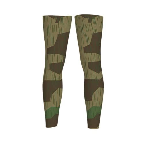 leyhjai Splinter A Camo Spring Full Length Sleeves Compression Sleeve Socks Knee Braces for Basketball Cycling