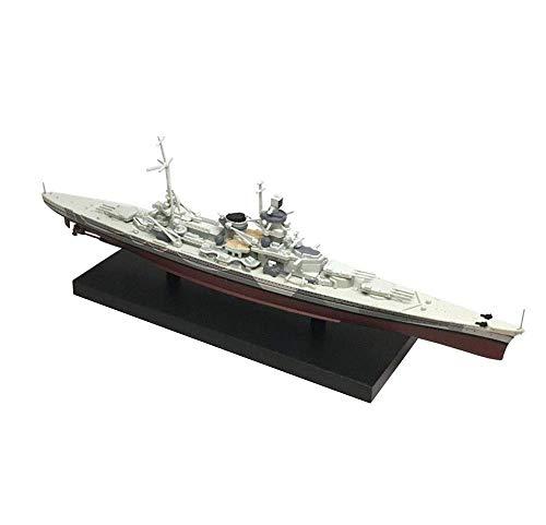 JIALI Military Battlecruiser Model, 1/1250 Battleship Model Scharnhorst, Alemania, Coleccionables para Adultos y Regalos