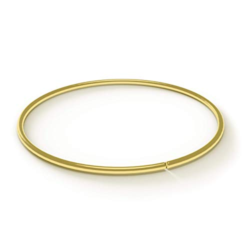 AZARIO LONDON 14K Solid Yellow Gold 20 Gauge - 8MM Diameter Seamless Continuous Open Hoop Nose Ring Nose Piercing
