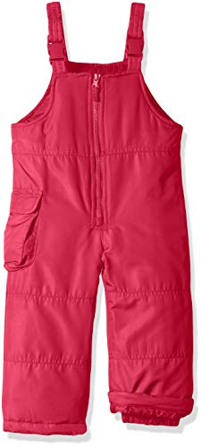 LONDON FOG Girls' Toddler Classic Snow Bib Ski Snowsuit, Fusion Pink, 3T