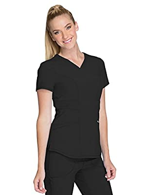 Cherokee Infinity CK623A V-Neck Top Black XS