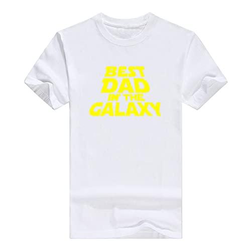 Llynice Camiseta divertida de Best Dad in The Galaxy Sarcasm Idea, blanco, XXL
