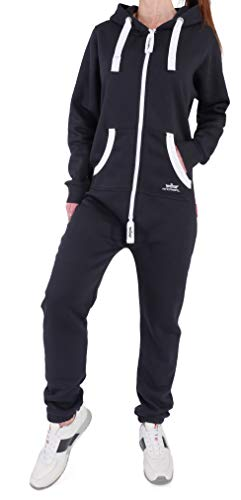 Finchgirl Damen Jumpsuit Jogger Trainingsanzug in Schwarz