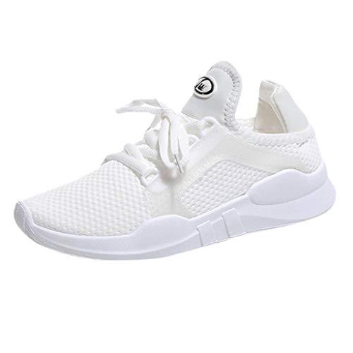ZIYOU Bowling-Schuhe für Damen und Kinder Lässige Atmungsaktive Turnschuhe Sport Laufschuhe Outdoor Fitness Sneaker (Weiß,39 EU)