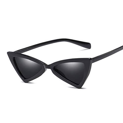 PPCLU gafas de sol Moda linda gato ojo gafas de sol mujeres vintage pequeño gafas de sol mujeres mujeres (Lenses Color : BlackSilver)