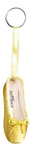 So Danca Schlüsselanhänger KCE01 in Form eines Ballettschuhes mit Schlüsselring - Farbe gelb