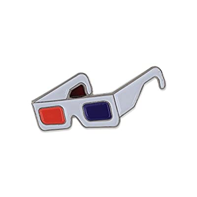 Forge 3D Movie Glasses Black Nickel Plated Enamel Diestruck Lapel Pin– 1 Pin