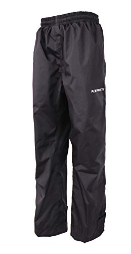 Acme Projects Regenhose, 100% wasserdicht, atmungsaktiv, geklebte Naht, 10000 mm / 3000 g (Damen, 42, schwarz)