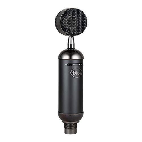 Blue Microphones Blackout Spark SL XLR Microphone Condensateur avec Support Personnalisé, Diagramme Cardioïde, pour Enregistrement, Diffuser, Podcast, Twitch Gaming, Streaming et Vidéos YouTube - Noir