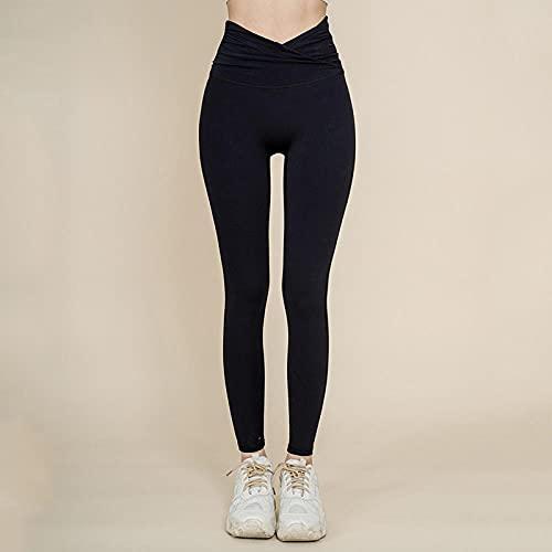 Deportivos Push up Mallas Running,Pantalones de Yoga Corriendo de Cintura Alta, Leggings de Moda Juveniles-Negro_S,Elásticos Leggings Push Pantalones