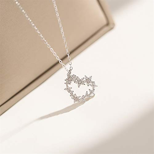 xinmeng Lovely 925 Sterling Silver Wedding Heart Pendants Necklaces For Brides Jewelry Zircon Necklace Women Gift