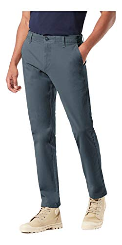 Dockers Men's Slim Fit Ultimate Chino Pants, Cool Slate, 32W x 34L