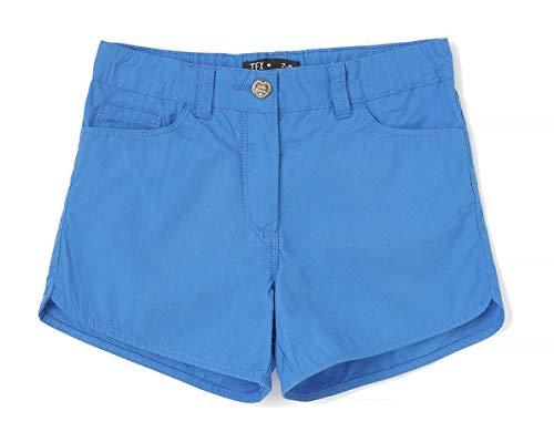 TEX 3616181483661 Pantalones Cortos, Celeste, 13-14 años para Niñas