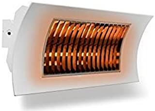 farho Radiador Infrarrojos Oasi KUARZO Blanco · Calefactor Infrarrojos para Exteriores con Elementos de Calor en Carbono IR B de bajo Resplandor · Potencia 1000 ó 2000 Watios