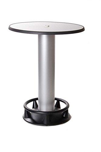 SEVERIN Stehtisch Quick-Table Silber, Stehbiertisch, Bistrotisch