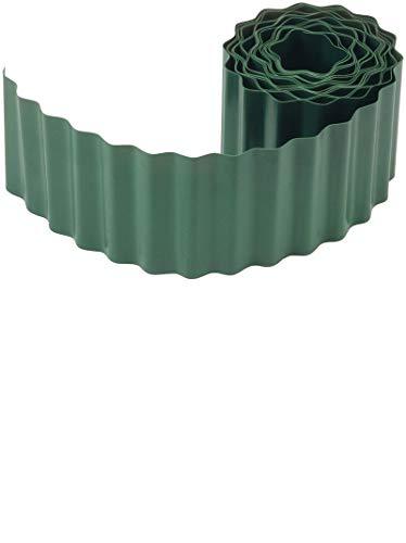 Connex Flexible Rasen- und Beeteinfassung - grün - 9 m Länge & 9 cm Höhe - Aus schlagfestem Kunststoff - Einfach zu montieren - Zuverlässige Wurzelsperre / Rasenkante / Beetbegrenzung / FLOR14210