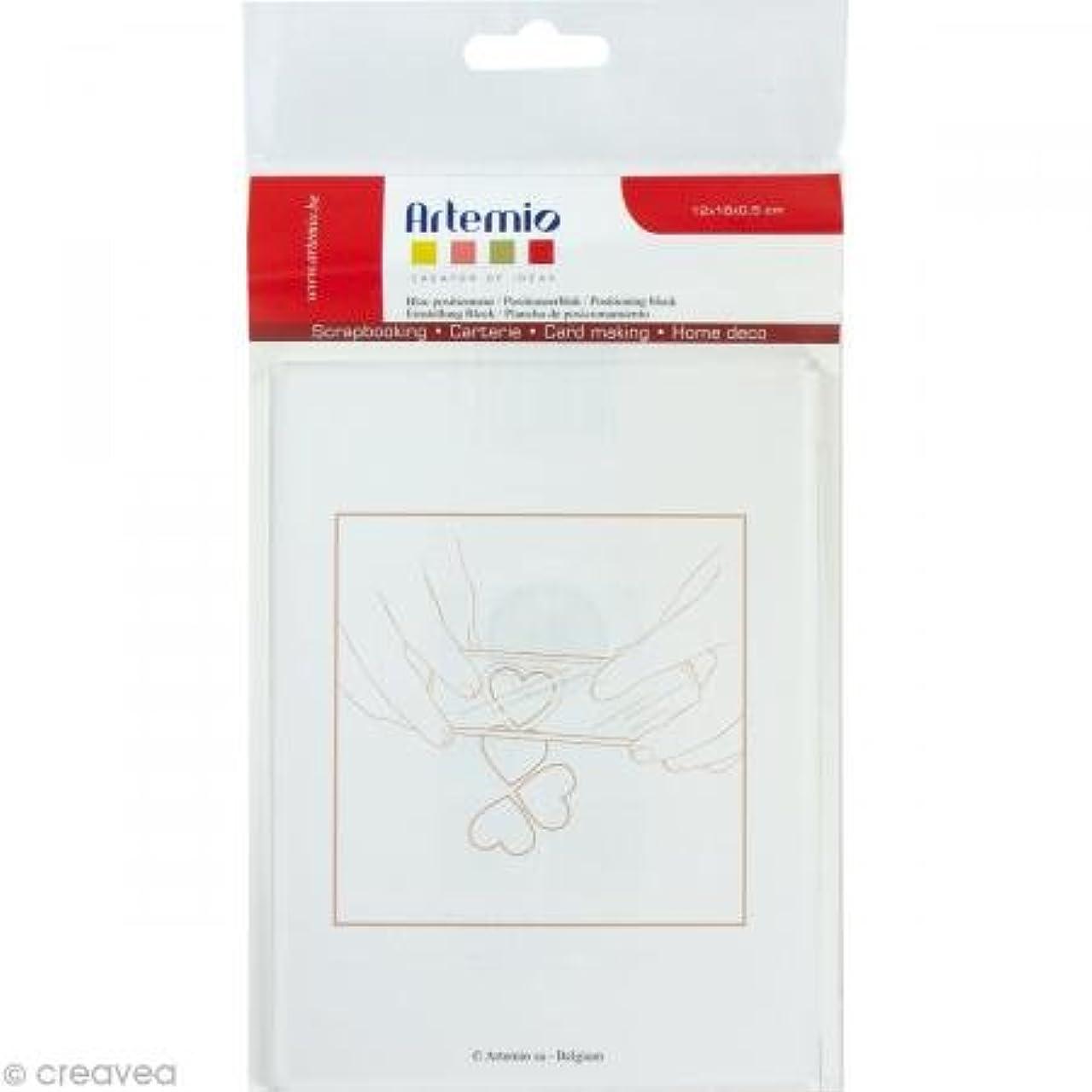 Artemio Positioning Stamping Block, Acrylic, White, 13.5?X 24.5?X 1.5?cm