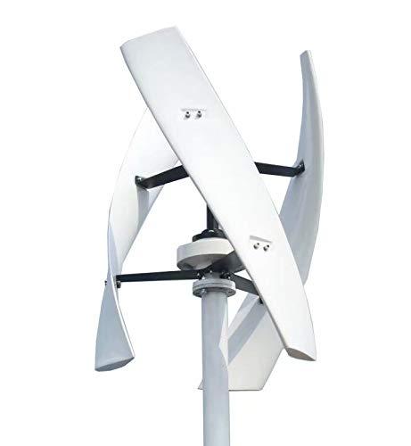 FLYT Turbina Eólica Blanco 600W 48V Aerogenerador vertical Pequeño Generador de Viento de Uso...